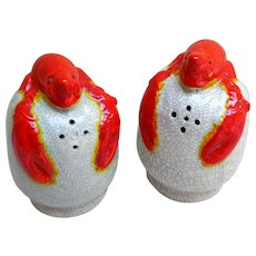 Vintage Lobster Salt & Pepper Shakers, Mid-Century Japan