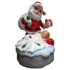 Mid-Century Lefton Musical Ceramic Santa