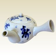 19th Century Chinese Porcelain Blue & White Teapot
