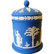 Vintage Wedgwood Jasperware Covered Jar, Cache Pot