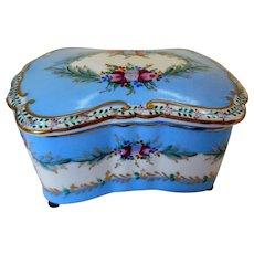 Richard Klemm, Dresden Porcelain Dresser Box, Ca 1900