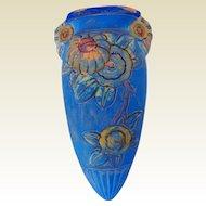 Mid-Century Terra Cotta Pottery Wall Pocket