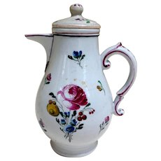 Antique Soft Paste Milk, Cream Pitcher Jug, Lidded