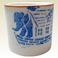 Early Child's Earthenware Mug, Noah's Ark