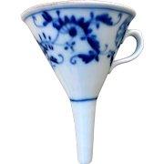 Early Porcelain Funnel, Blue Onion, Ca 1900