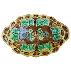 Early Griffin, Smith & Hill Majolica Platter