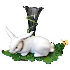 Vintage Petites Choses Easter Bunny & Vase
