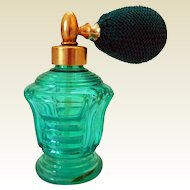 Art Deco Perfume Bottle, with Atomizer