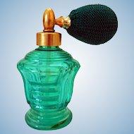 Art Deco Perfume Bottle, with Atomizer