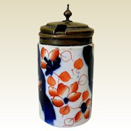 Mid-19th Century Gaudy Welsh Mustard Pot