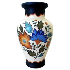 Vintage Flora Gouda Plateel Holland Pottery Vase