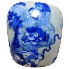 Chinese Export Porcelain & Metal Box, Dragon
