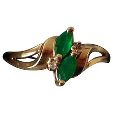 estate large lxrandco ring rings emerald en jewelry fr tone luxury owned silver vintage us pre platinum