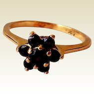 Estate 14K Yellow Gold Ring, Garnets
