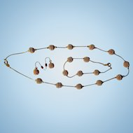 Stunning Trifari Gold-Tone Vintage Parure, Necklace, Bracelet & Earrings!