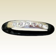 Vintage 14K White Gold Band with Diamonds