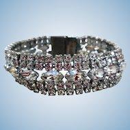 Fabulous Mid-Century White Rhinestone Bracelet