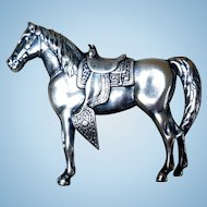 Vintage Sterling Silver Horse Pin