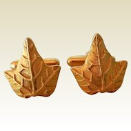 Vintage Cuff Links, Ivy Leaf