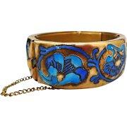 Art Nouveau Enameled Cuff Bracelet