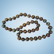 Early Chinese Famille Rose Porcelain Beaded Necklace