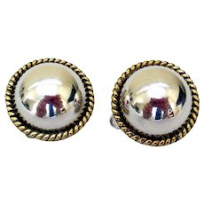 Classic Sterling Silver Taxco Mexico Earrings
