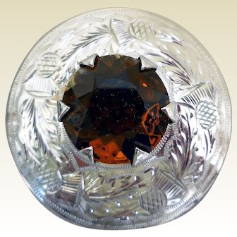Fabulous Sterling Silver Scottish Pin, Ward Brothers