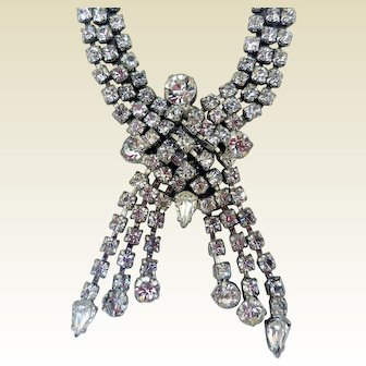 Mid-Century Rhinestone Necklace, Extraordinary!