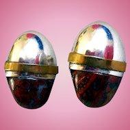 Sterling Silver & Agate Earrings