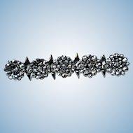 Georgian Cut Steel Bar Pin