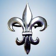 Sterling Silver Fleur De Lis Watch Pin