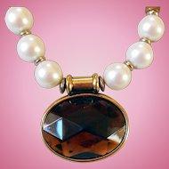 Vintage Ben Amun Faux Pearl Necklace