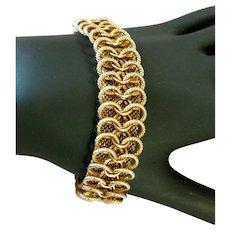Vintage Chain & Mesh Bracelet, Ca 1950s/60s