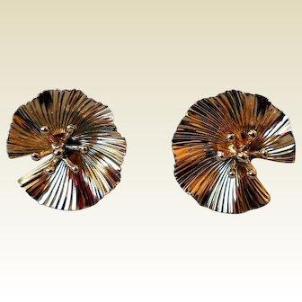 Vintage McTeigue & Co. 14K Classic Gold Earrings