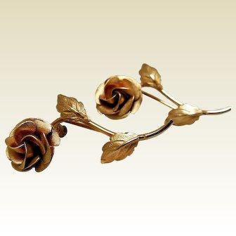 Vintage Gold-Filled Rose Scatter Pins
