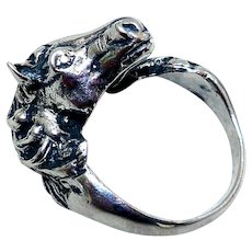 Sterling Silver Ring, Figural Horse