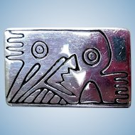 Sterling Silver Abstract Art Brooch