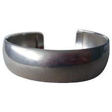 Vintage Sterling Silver Cuff Bracelet, Italy, Signed