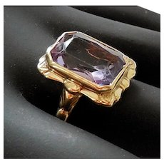 Late Victorian Amethyst Ring, 14K & 10 K Gold