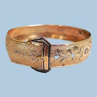 Art Nouveau Gold-Filled Buckle Bracelet