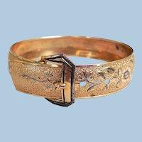 Art Nouveau Gold-Filled Buckle Bracelet