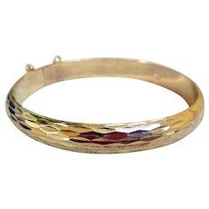 Vermeil Bangle Bracelet
