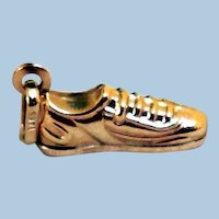 Vintage 14K Gold Athletic Shoe Charm