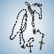 Two Early Rosaries, Signed France & Roma