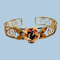 Delicate Filigree Gold-Filled Bracelet by Krementz