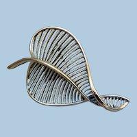 Mid-Century Stunning Accent Leaf Pin