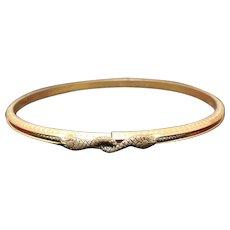 Egyptian Revival, Enameled Snake Bracelet, Art Deco