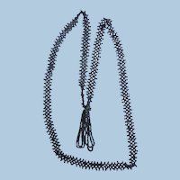 Antique Cut Steel Micro Beaded Necklace with Tassel