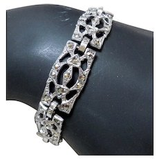 Sterling Silver Bracelet with Marcasites