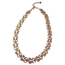 Pretty Gold-Tone Necklace Choker by Trifari, Vintage